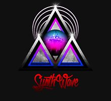 "Retro 80's Synthwave / New Retro Wave: Neon Nights (With ""SynthWave"" logo) Unisex T-Shirt"