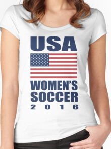 USA Women's Soccer 2016 Women's Fitted Scoop T-Shirt