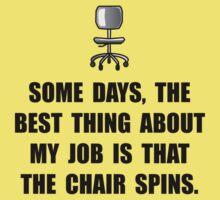 Job Chair Spins Kids Tee