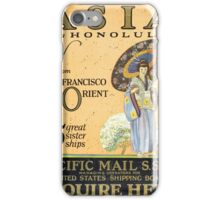 Asia via Honolulu from San Francisco to the Orient -- 5 great sister ships  iPhone Case/Skin