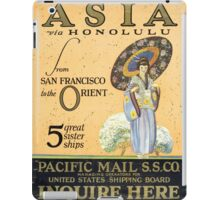 Asia via Honolulu from San Francisco to the Orient -- 5 great sister ships  iPad Case/Skin