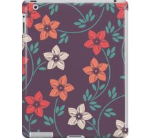 Stylish pattern with decorative flowers and leaves iPad Case/Skin