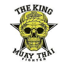 the king of muay thai fighter muaythai thailand martial art Photographic Print