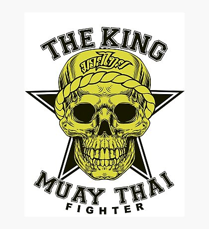 the king of muay thai fighter muaythai thailand martial art Photographic Print