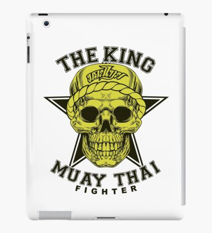 the king of muay thai fighter muaythai thailand martial art iPad Case/Skin