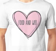 Food And Wifi Is Love Unisex T-Shirt