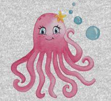 Cute Octopus One Piece - Long Sleeve