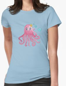 Cute Octopus Womens Fitted T-Shirt
