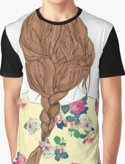 Cool Braided Hair Graphic T-Shirt