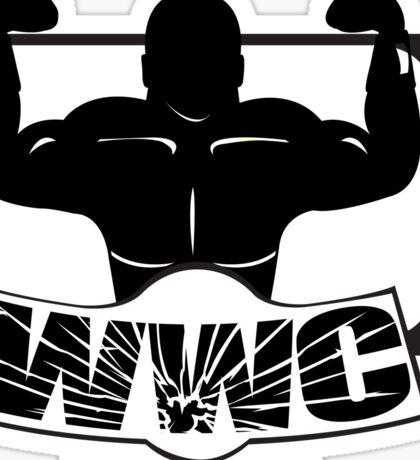 Wrestling Watching Club Glass Shatter BW Logo Sticker