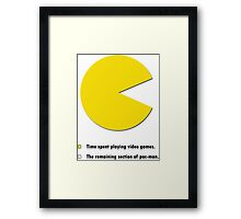 Video Game Pie Chart Framed Print