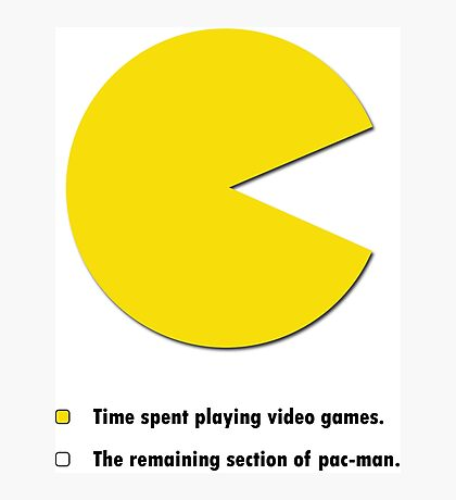 Video Game Pie Chart Photographic Print