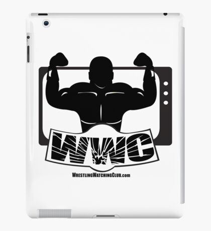 Wrestling Watching Club Glass Shatter BW Logo iPad Case/Skin