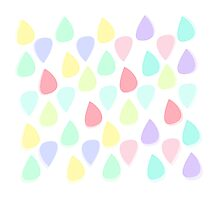 Colour Raindrops Photographic Print