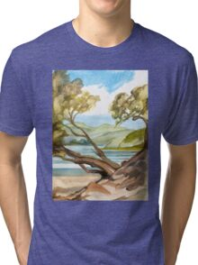 Summer at Coopers Beach Tri-blend T-Shirt