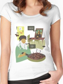 Dinner Time at the Da Mincis Women's Fitted Scoop T-Shirt