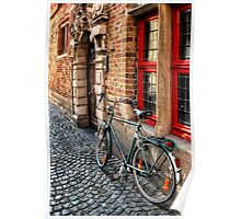 Bicycle in Bruges Poster