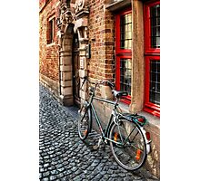 Bicycle in Bruges Photographic Print