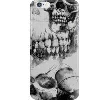 Long Skull Design - Black and White iPhone Case/Skin