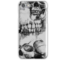 Long Skull Design - Black and White iPhone Case/Skin