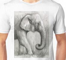 Elephant Watercolor Unisex T-Shirt