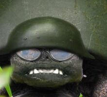 Slow Commando Turtle Helmet Sticker