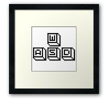 WASD Keys Black Framed Print