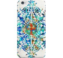 Colorful Pattern Art - Color Fusion Design 6 By Sharon Cummings iPhone Case/Skin