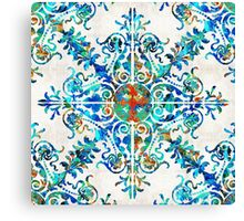 Colorful Pattern Art - Color Fusion Design 6 By Sharon Cummings Canvas Print