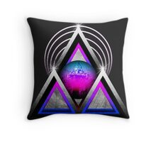 """Retro 80's Synthwave / New Retro Wave: Neon Nights (Without """"SynthWave"""" Logo) Throw Pillow"""