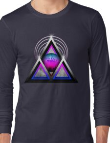 """Retro 80's Synthwave / New Retro Wave: Neon Nights (Without """"SynthWave"""" Logo) Long Sleeve T-Shirt"""