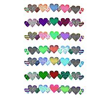 Hearts in a line Photographic Print