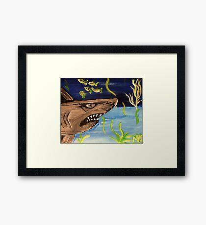 sHARK WATCH Framed Print