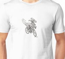 Steampunk Dinosaur on a Bicycle Unisex T-Shirt