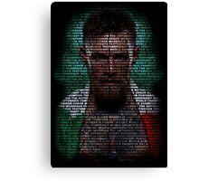 Conor Mcgregor (Superimposed) Canvas Print