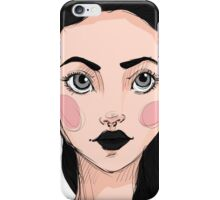 Sexy ginger girl BRUNETTE iPhone Case/Skin