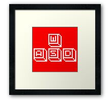 WASD Keys White Framed Print