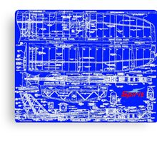 Spirit 2M Blueprint Canvas Print