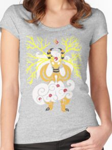 Tribalish Mega Ampharos - Eye of the Storm Women's Fitted Scoop T-Shirt