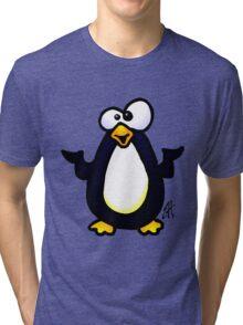 Pondering Penguin Tri-blend T-Shirt