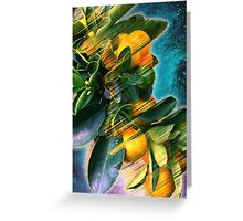 Small fruit tree in outer space Greeting Card