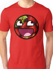 Strawberries Meme Face Unisex T-Shirt