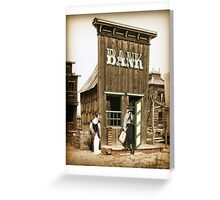 Old West Bandit Greeting Card