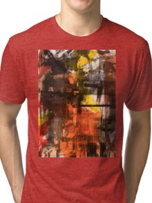 TIME IS THE FIRE IN WHICH WE BURN-PART 2—SCHWARTZ Tri-blend T-Shirt