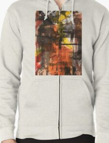 TIME IS THE FIRE IN WHICH WE BURN-PART 2—SCHWARTZ Zipped Hoodie