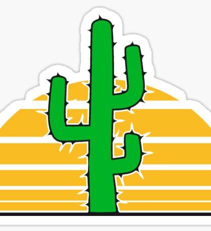 desert sun sunset sunrise big cactus desert thorn Sticker