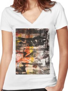 TIME IS THE FIRE IN WHICH WE BURN-PART 1—SCHWARTZ Women's Fitted V-Neck T-Shirt