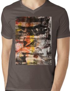 TIME IS THE FIRE IN WHICH WE BURN-PART 1—SCHWARTZ Mens V-Neck T-Shirt