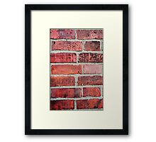 Brickwork Framed Print