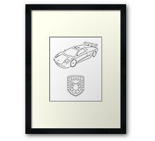 GTA V - Infernus Outline (Black) Framed Print